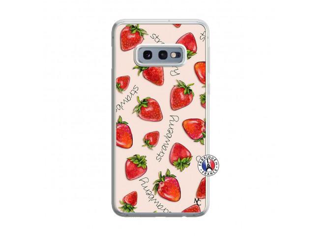 Coque Samsung Galaxy S10e Sorbet Fraise Translu