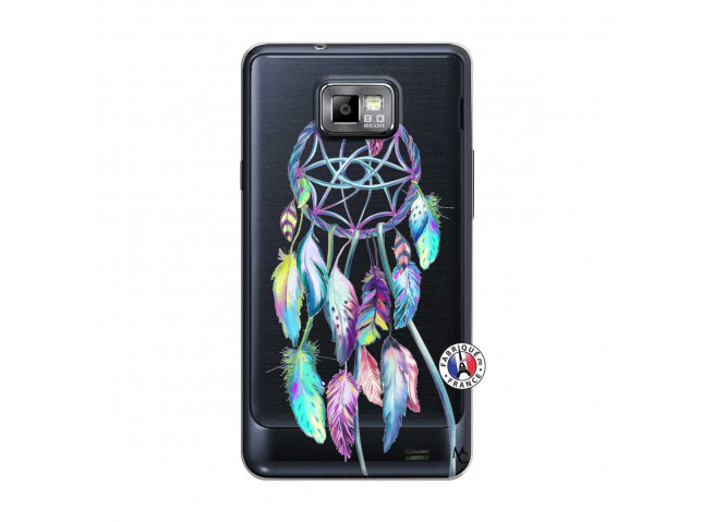 Coque Samsung Galaxy S2 Blue Painted Dreamcatcher