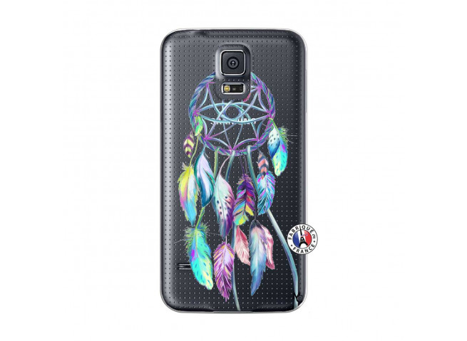 Coque Samsung Galaxy S5 Mini Blue Painted Dreamcatcher