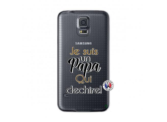 Coque Samsung Galaxy S5 Mini Je Suis Un Papa Qui Dechire