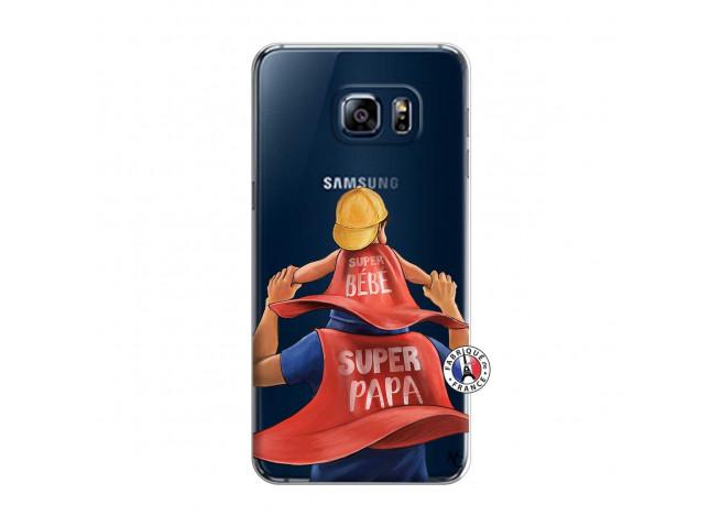 Coque Samsung Galaxy S6 Edge Plus Super Papa et Super Bébé