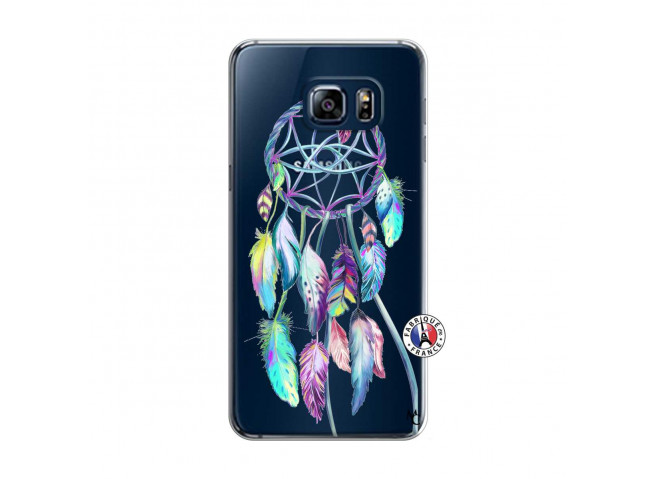 Coque Samsung Galaxy S6 Edge Blue Painted Dreamcatcher