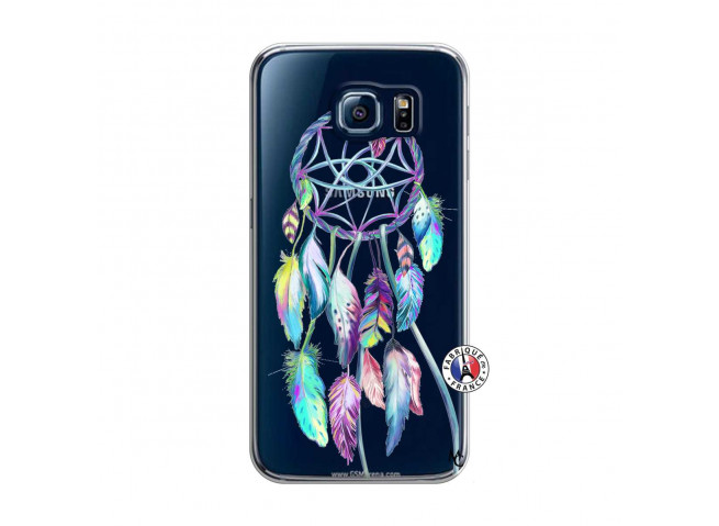 Coque Samsung Galaxy S6 Blue Painted Dreamcatcher