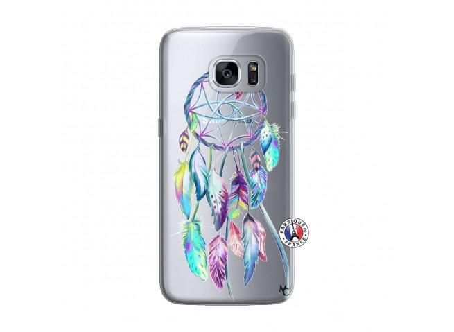 Coque Samsung Galaxy S7 Edge Blue Painted Dreamcatcher