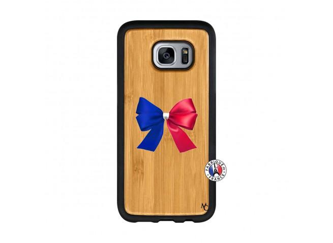 Coque Bois Galaxy S7 Allez Les Bleues