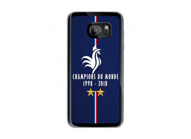 Coque Samsung Galaxy S7 Edge Champions Du Monde 1998 2018 Transparente