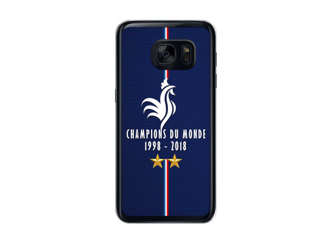 Coque Samsung Galaxy S7 Champions Du Monde 1998 2018 Transparente
