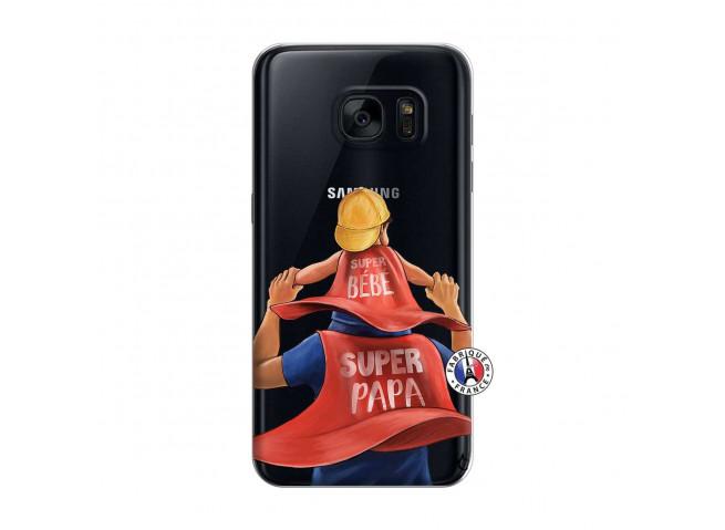 Coque Samsung Galaxy S7 Super Papa et Super Bébé