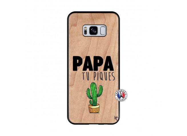 Coque Samsung Galaxy S8 Papa Tu Piques en Bois