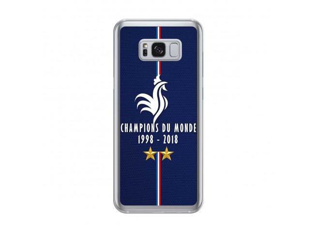 Coque Samsung Galaxy S8Plus Champions Du Monde 1998 2018 Transparente