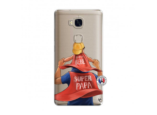 Coque Huawei Honor 5X Super Papa et Super Bébé