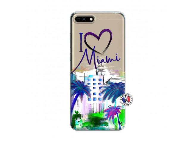 Coque Huawei Honor 7A I Love Miami