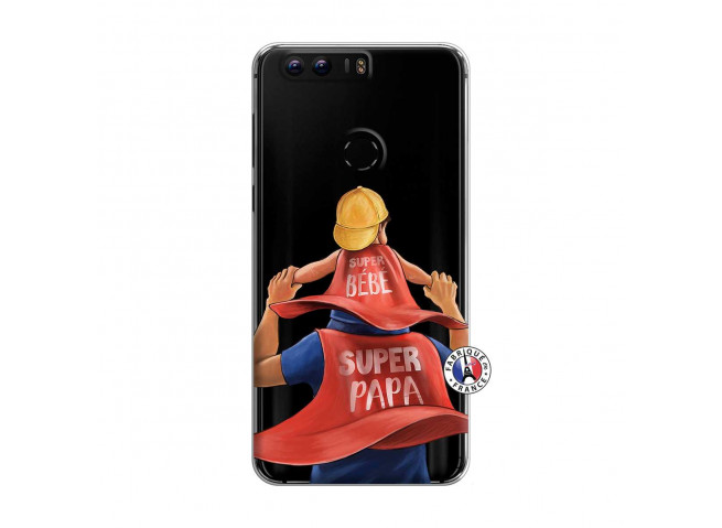 Coque Huawei Honor 8 Super Papa et Super Bébé