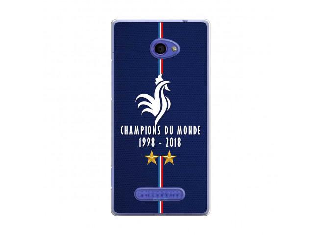 Coque Htc 8X Champions Du Monde 1998 2018 Transparente