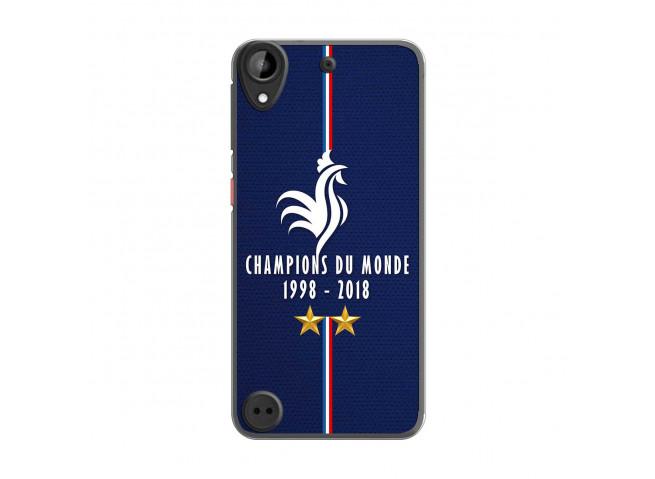 Coque Htc Desire 530 Champions Du Monde 1998 2018 Transparente