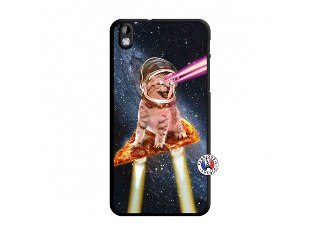 Coque HTC Desire 816 Cat Pizza Translu
