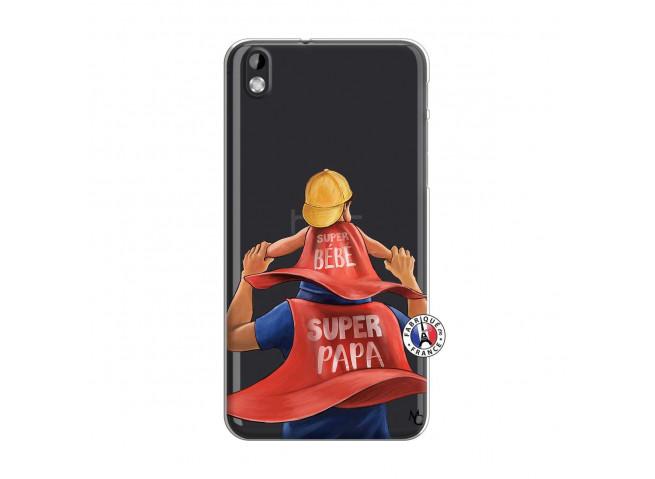 Coque HTC Desire 816 Super Papa et Super Bébé