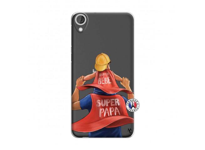 Coque HTC Desire 820 Super Papa et Super Bébé