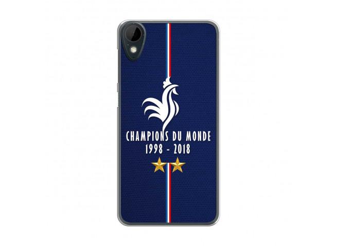 Coque Htc Desire 825 Champions Du Monde 1998 2018 Transparente