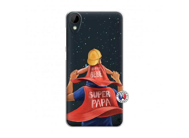 Coque HTC Desire 825 Super Papa et Super Bébé