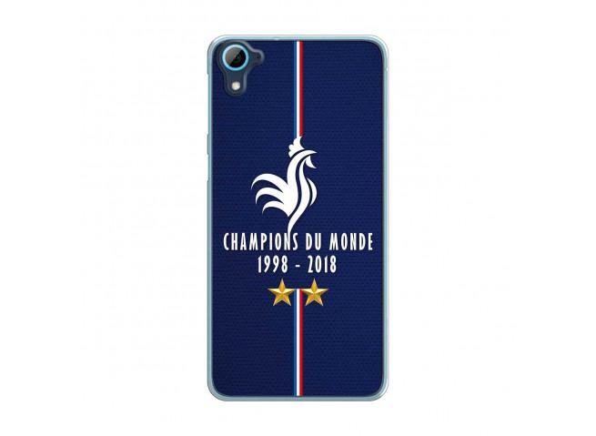 Coque Htc Desire 826 Champions Du Monde 1998 2018 Transparente