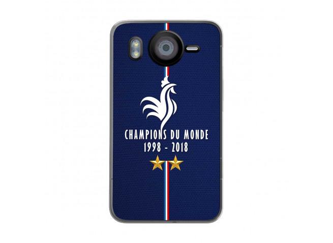 Coque Htc Desire HD Champions Du Monde 1998 2018 Transparente