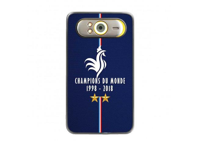 Coque Htc HD7 Champions Du Monde 1998 2018 Transparente