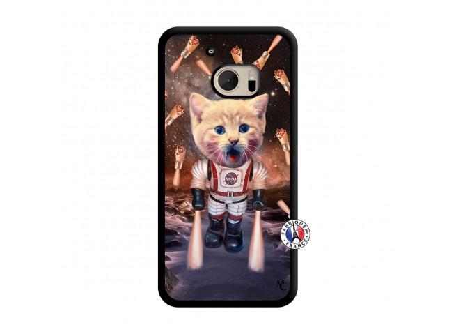 Coque HTC ONE M10 Cat Nasa Translu