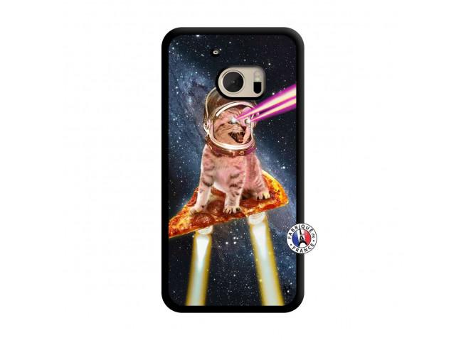 Coque HTC ONE M10 Cat Pizza Translu