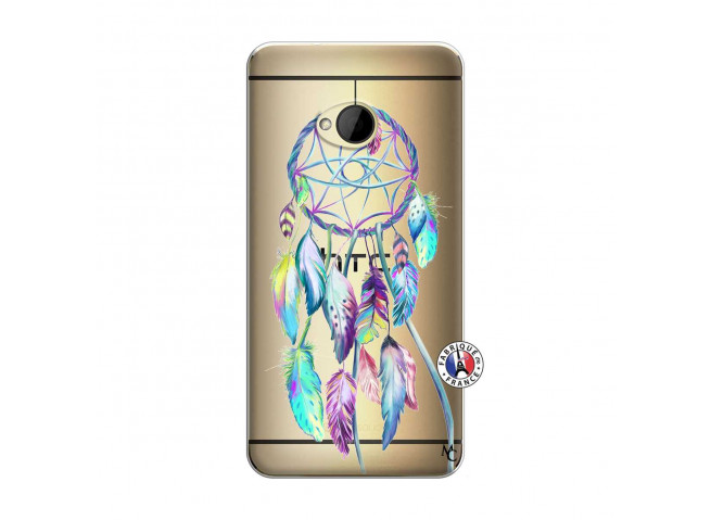 Coque HTC ONE M7 Blue Painted Dreamcatcher
