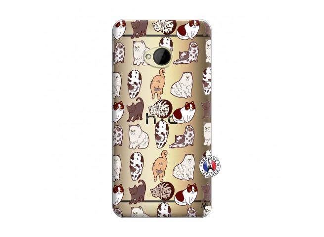 Coque HTC ONE M7 Cat Pattern