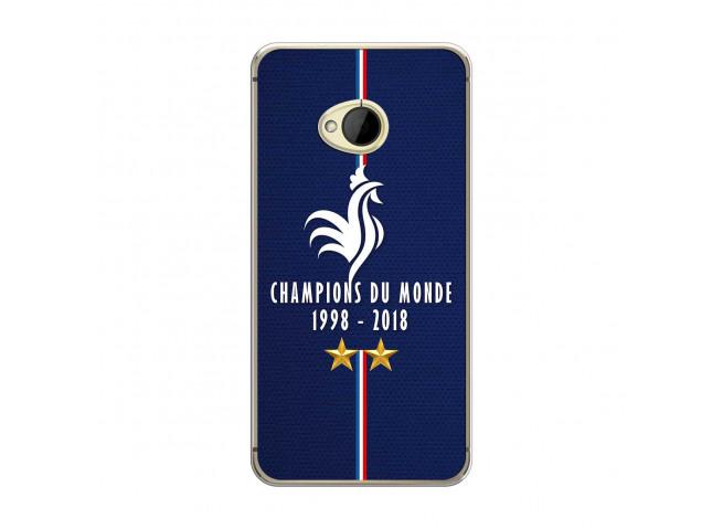 Coque Htc ONE M7 Champions Du Monde 1998 2018 Transparente