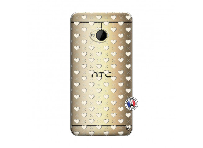 Coque HTC ONE M7 Little Hearts