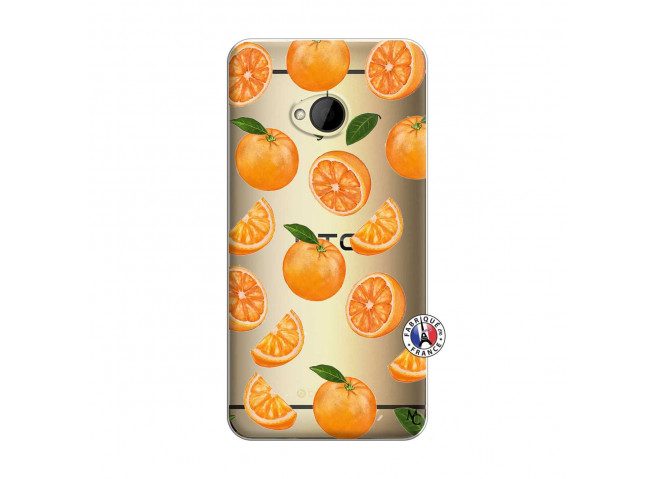 Coque HTC ONE M7 Orange Gina