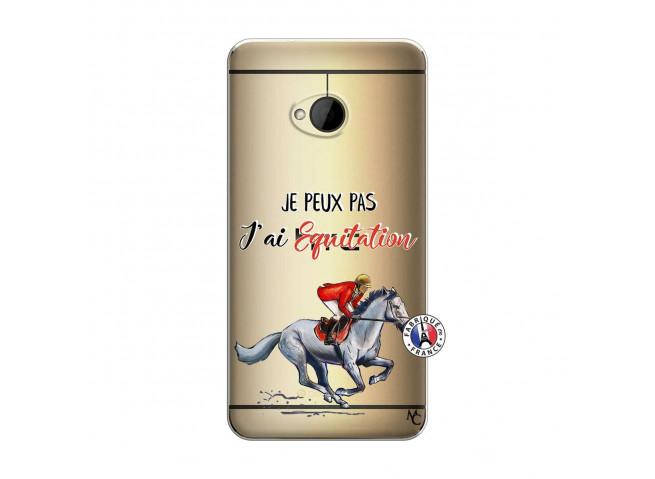 Coque HTC ONE M7 Je Peux Pas J Ai Equitation