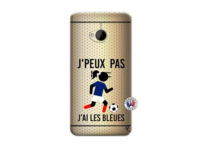 Coque HTC ONE M7 Je Peux Pas J Ai Les Bleues Maillot