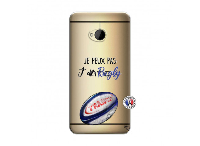Coque HTC ONE M7 Je Peux Pas J Ai Rugby