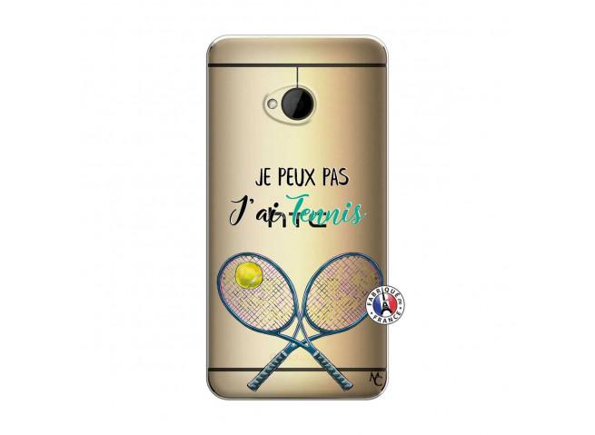 Coque HTC ONE M7 Je Peux Pas J Ai Tennis