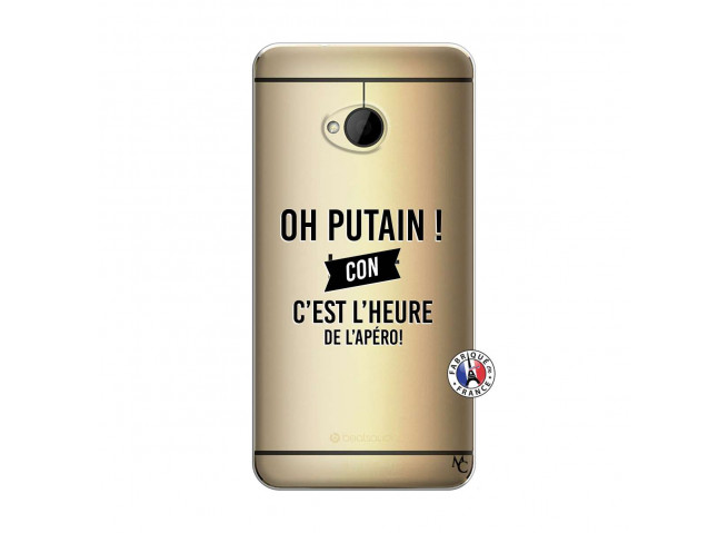 Coque HTC ONE M7 Oh Putain C Est L Heure De L Apero