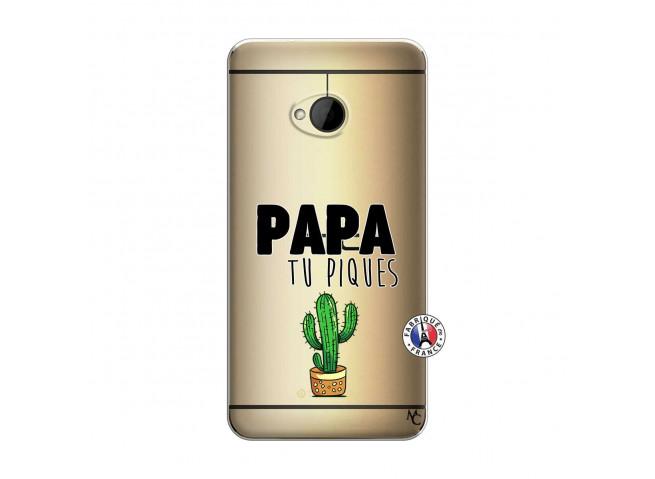 Coque HTC ONE M7 Papa Tu Piques