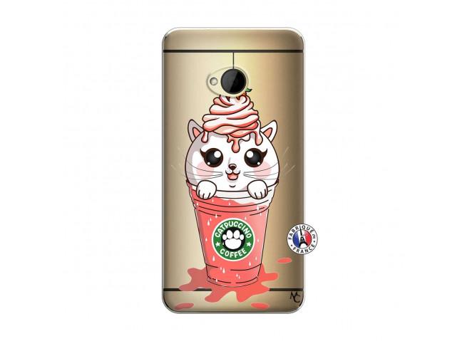 Coque HTC ONE M7 Catpucino Ice Cream