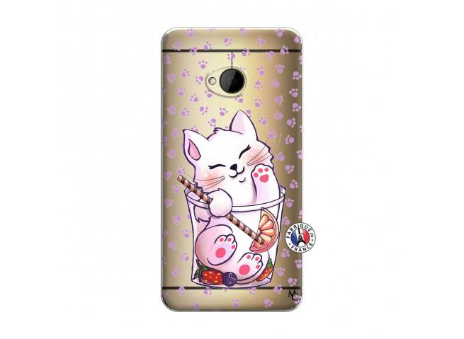 Coque HTC ONE M7 Smoothie Cat