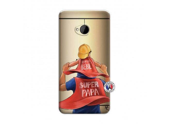 Coque HTC ONE M7 Super Papa et Super Bébé