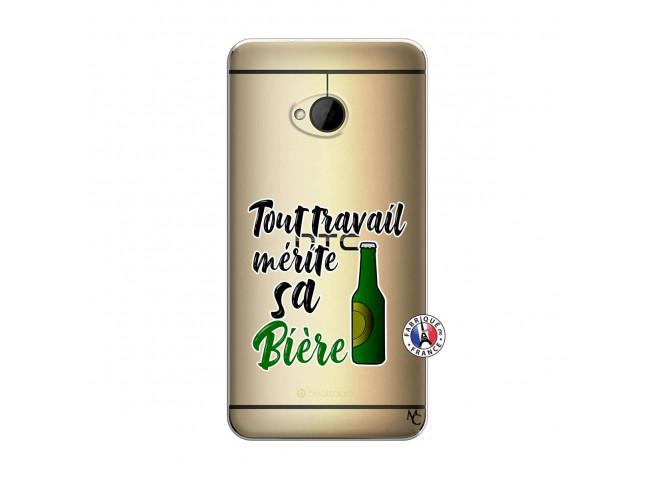 Coque HTC ONE M7 Tout Travail Merite Sa Biere