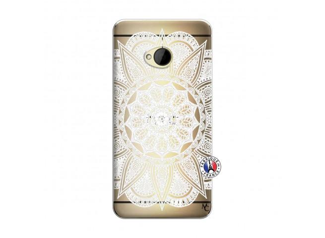 Coque HTC ONE M7 White Mandala