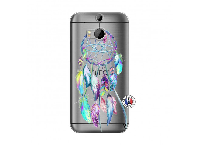 Coque HTC ONE M8 Blue Painted Dreamcatcher