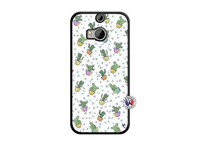 Coque HTC ONE M8 Le Monde Entier est un Cactus Noir