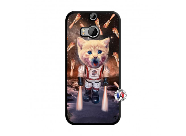 Coque HTC ONE M8 Cat Nasa Noir