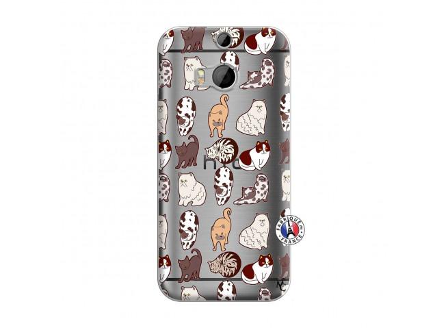 Coque HTC ONE M8 Cat Pattern