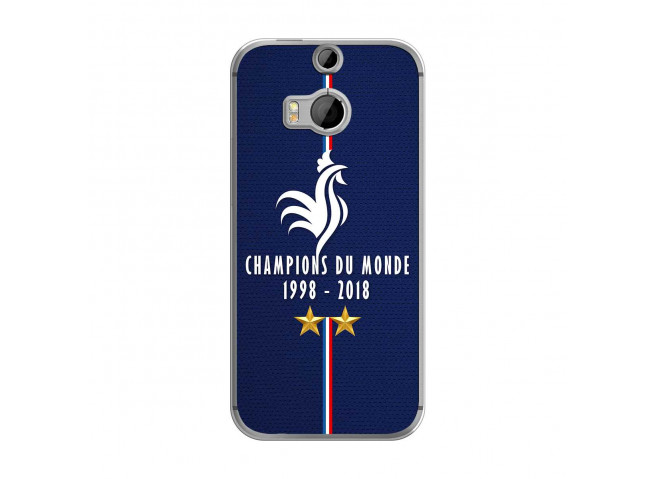 Coque Htc ONE M8 Champions Du Monde 1998 2018 Transparente